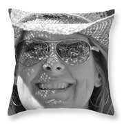 Music Festival Fan Throw Pillow