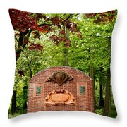Music Hall And Park Throw Pillow