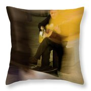 Music In The Flow Of Motion Throw Pillow