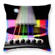 Music Is A Rainbow To The Heart Throw Pillow by Andee Design