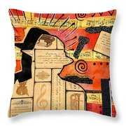 Music Is My Sanctuary Throw Pillow