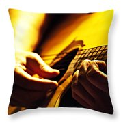 Music Is Passion Throw Pillow by Christopher Gaston