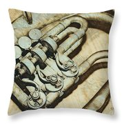 Music Of The Past Throw Pillow by Jutta Maria Pusl