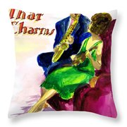Music That Charms Throw Pillow