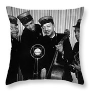 Music: The Ink Spots Throw Pillow by Granger