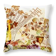 Music With Wine 2 Throw Pillow