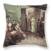 Musical Evening Ad, C1890 Throw Pillow