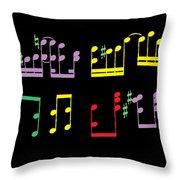 Musical Notes Throw Pillow