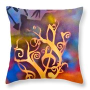 Musical Roots Throw Pillow