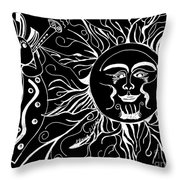 Musical Sunrise - Inverted Throw Pillow