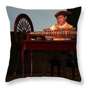 Musician And Glass Armonica Throw Pillow