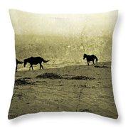 Mustangs Throw Pillow