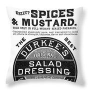 Mustard Ad, 1889 Throw Pillow