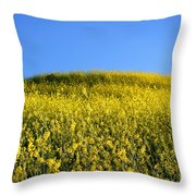 Mustard Grass Throw Pillow