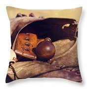 Muzzle Loader's Tools-color Throw Pillow