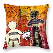 My Angelic Sistah And I Are Free To Dream Throw Pillow