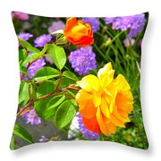 My Beautiful Roses Throw Pillow