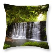 My Beautiful Waterfall Throw Pillow