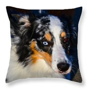 My Brown Eyes Blue 2 Throw Pillow