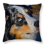 My Brown Eyes Blue Throw Pillow