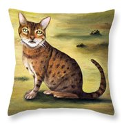 My Cats Worst Nightmare Detail Throw Pillow