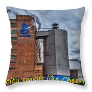My City Smells Like Cheerios Throw Pillow