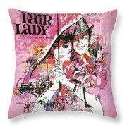 My Fair Lady Throw Pillow by Georgia Fowler