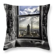 My Favorite Channel Is Manhattan View Throw Pillow