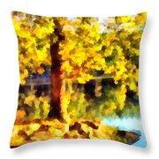 My Golden Tree Throw Pillow