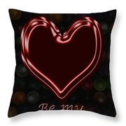 My Heart Is Yours Valentine Card Throw Pillow