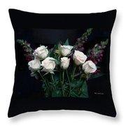 My Last Roses Throw Pillow