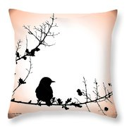 My Little Birdie Throw Pillow