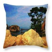 My Little Grass Shack - Baja Mexico  Throw Pillow