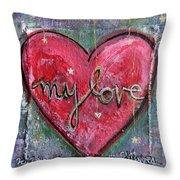 My Love Heart Throw Pillow