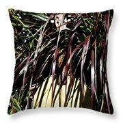My Musical Garden Throw Pillow