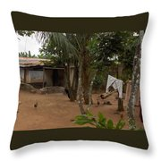 My Nigerian Laundry Room Throw Pillow