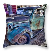 My Old Truck Throw Pillow by Garry Gay