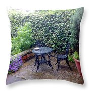My Patio Throw Pillow