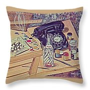 My Second Still Life Circa 60 Throw Pillow