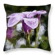My Summer Flower Throw Pillow