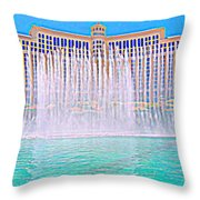 My Vegas Bellagio 4 Throw Pillow