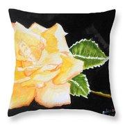 My Yellow Rose Throw Pillow