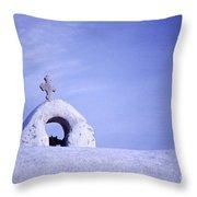 Mykonos Chapel Detail Throw Pillow