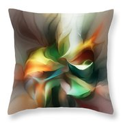 Mysterious Bloom Throw Pillow