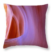 Mysterious Magnificent Antelope Canyon Throw Pillow