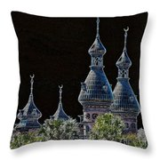 Mysterious Minarets Throw Pillow