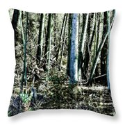 Mystery Forest Throw Pillow by Olivier Le Queinec