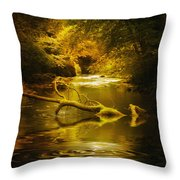 Mystery In Forest Throw Pillow