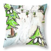 Mystic Mountain Throw Pillow
