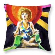 Mystic Vamp Throw Pillow